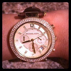 Brown Michale Kors watch
